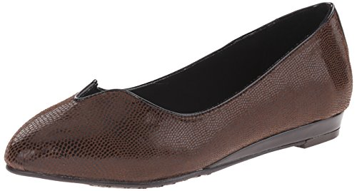 Estilo Flat Lizard Ballet Dillian Suave Hush Puppies Brown por Dark wdWqpqSH