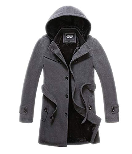 Winter Autumn Jacket Coat Huixin Wool Stand Trench Coat Coat Elegant Parka Mens Apparel Grau Jacket Winter Winter Coat Jacket Collar Men Men xqg88wOAn