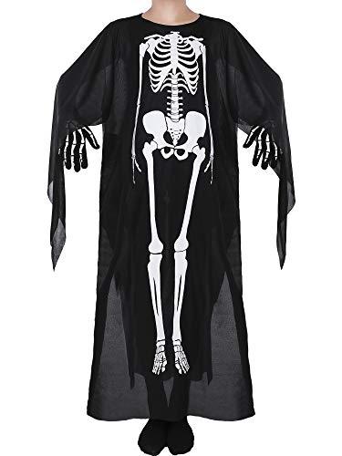 Blulu Skeleton Dress Bone Halloween Dresses Cosplay Suit
