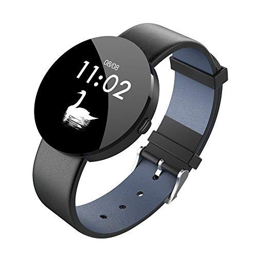 ... Sleep Tracker Reloj Inteligente con Ritmo cardíaco Reloj Elegante de Fitness podómetro con Interfaz de Usuario Colorida (❤️Negro): Amazon.es: Relojes