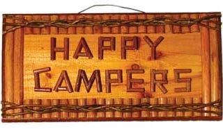 Campers Rustic Hand crafted Plaque 18 inch product image