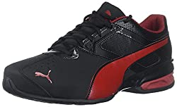 Puma Men's Tazon 6 Fm Sneaker, Black-red Dahlia, 9.5 M Us