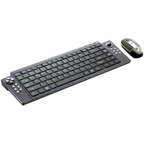 SMK-Link VP6321 VersaPoint Rechargeable Wireless Media Suite - USB Wireless RF Keyboard - 88 Key - Black - USB Wireless RF Mouse - Laser - 2100 dpi - QWERTY - Black