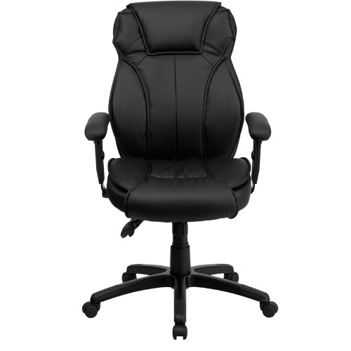 Flash Furniture High Back Leather Chair-Triple Paddle Control Mechanism