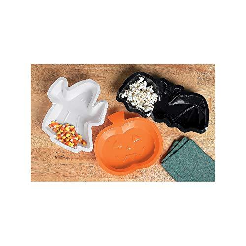 Fun Express - Halloween Shaped Dishes for Halloween - Party Supplies - Serveware & Barware - Serving Platters - Halloween - 12 -