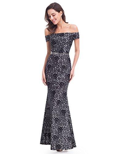Partykleid Schulterfrei Schwarz Lang Pretty 07045 Elegant Ever Abendkleid wf7Txzzq