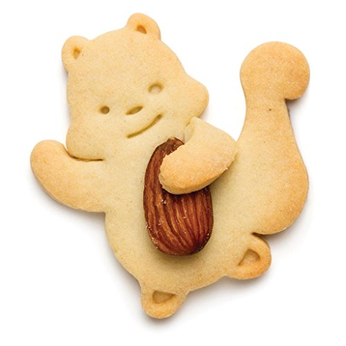 Cookie cutter for Squirrel shaped cookies holding nuts or almonds by Monkey Business