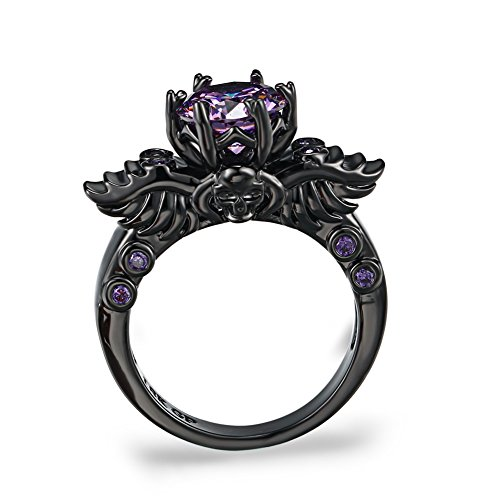 Black Gold Plated Double Dragon Head Ring Dragons Collectibles