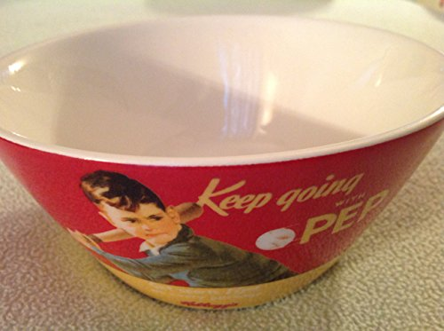 (Vintage Kellogg's Keep Going with Pep Ceramic Cereal Bowl )