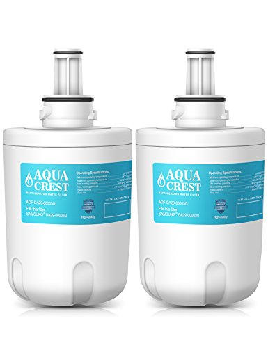 AQUACREST DA29-00003G Replacement for Samsung DA29-00003G, DA29-00003B, DA29-00003A, HAFCU1, Aqua-Pure Plus Refrigerator Water Filter (2 Pack)