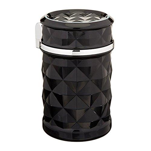 GANGER Car Accessories LED Light Car Ashtray Universal Cigarette Cylinder Holder Car Styling Black - Evil Pipe Kit