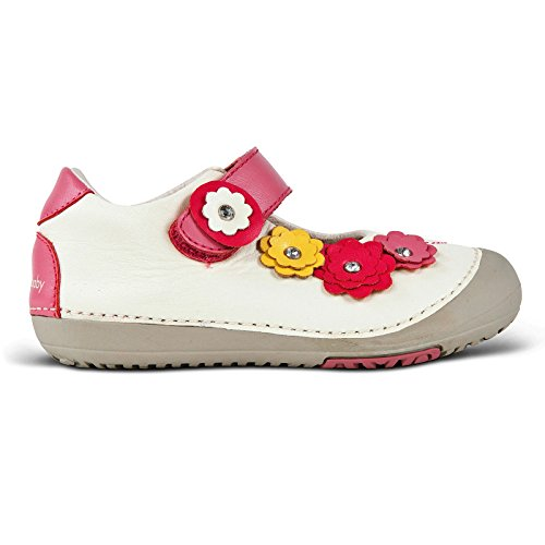 Image of Momo Baby Girls First Walker/Toddler Flower Power Mary Jane Leather Shoes