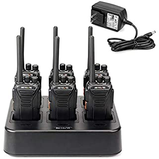 Sale Off Retevis RT27 2 Way Radio Long Range Rechargeable 22 Channel FRS UHF Two-Way Radios(6 Pack) with Six Way Multi Gang Charger