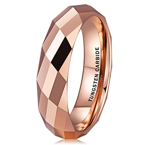 Wide Tungsten Ring Wedding Band - 4