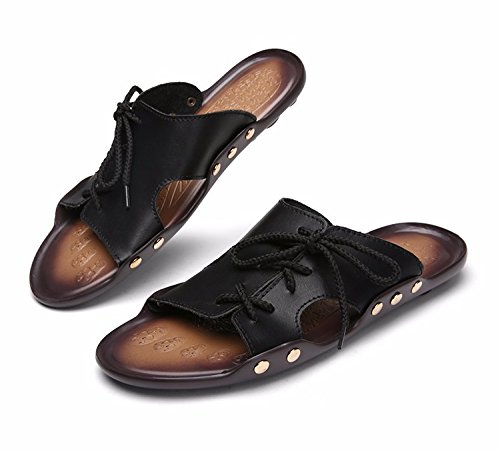 Sommer Sandalen Männer Breathable Trend Schuh Flip Flop Männer Strand Schuh Ultra-Licht Trend Schuh Sandalen, schwarz1, UK = 9, EU = 43 1/3