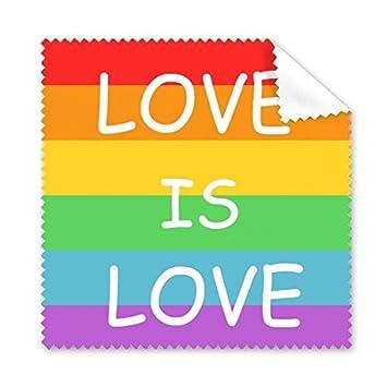 Arco iris Gay lésbico LGBT transgénero bisexuals apoyo amor es amor bandera ilustración gafas paño de