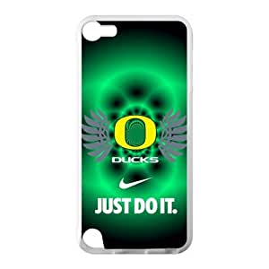 Hoomin NCAA Oregon Ducks Green Background Ipod Touch 5 Cell Phone Cases Cover Popular Gifts(Laster Technology)