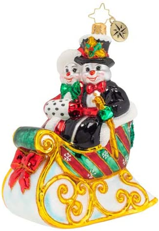 Date Night! Christopher Radko Hand-Crafted European Glass Christmas Decorative Figural Ornament