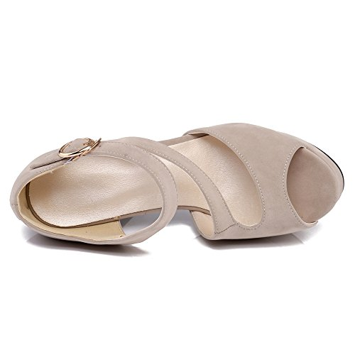 Chunky 809 Moda Jojonunu Beige Donna Tacco Sandali gwnpq
