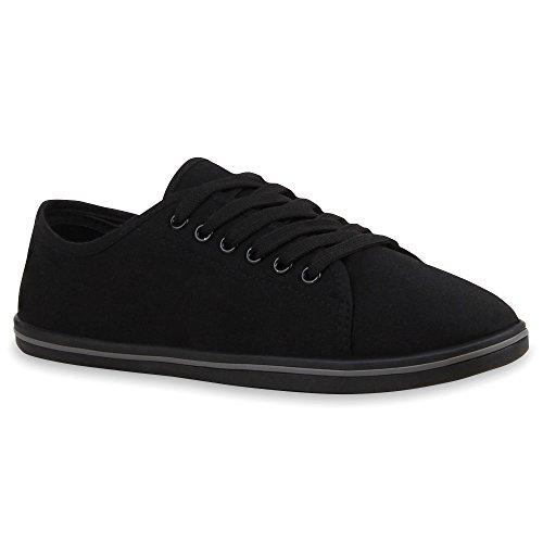 Stiefelparadies - Zapatillas Mujer Negro - negro