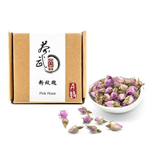 (Cha Wu-[A] Pink Rose Buds(3oz),Loose Leaf Flower Petal Tea,Natural Fragrant Herbal Tea ,Afternoon Tea)