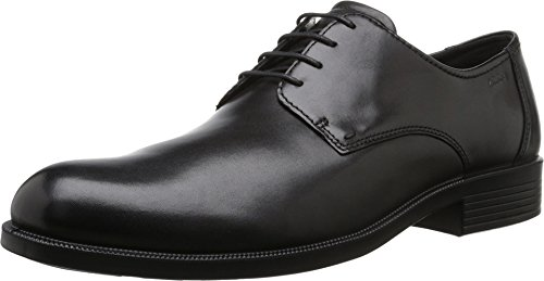ECCO Men's Harold Plain Toe Tie,Black Cow Leather,EU 48 M