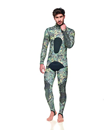 (SEAC Pirana Lycra Wetsuit X-Large, Green Camouflage)