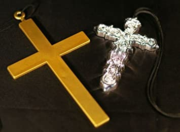 d75dd2d6f28739 Monk-Nun-Ozzy Osbourne-Madonna-80's PLASTIC CROSS Available in Gold ...