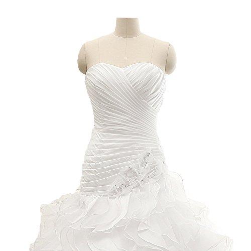 DZdress up Women's Lace Gowns White Sweetheart Ball Wedding Long Dress FSpqa
