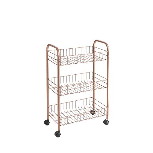 Metaltex USA 34.44.03 Copper Polytherm Rolling Cart, One Size,