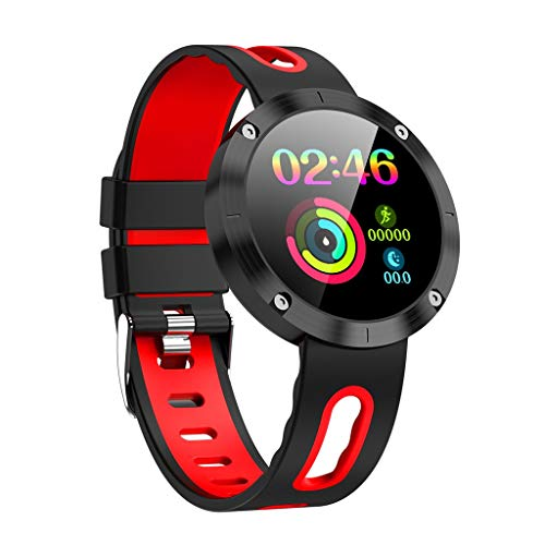 KAKALOR DM58P Smart Watch-,ECG Blood Oxygen Blood Pressure Heart, Android Wear 2.0,Compatible with iOS and Android, Blood Pressure Heart Rate Monitor (Red)