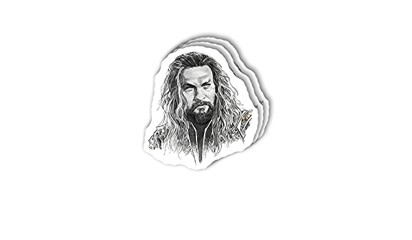Jason Momoa 9 Stickers 3 Stickers FREE GIFT NEW Aquaman for Laptop Tablet