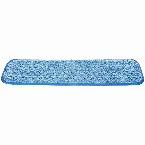 Rubbermaid Commercial Products HYGEN Microfiber Damp Room Mop Pad, 18-inch, Blue (FGQ41000BL00) by Rubbermaid Commercial Products (Image #2)