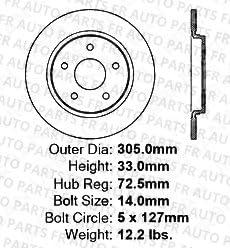 High-End 8 Ceramic Pads 4 Black Coated Cross-Drilled Disc Brake Rotors Front+Rear Kit 5lug