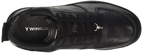 Windsor Smith Racerr Sneaker A Collo Alto Donna Nero leather Black