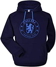 Chelsea Soccer Crest Official Unisex Hooded Sweatshirt (Adult Sizes S to 3XL)