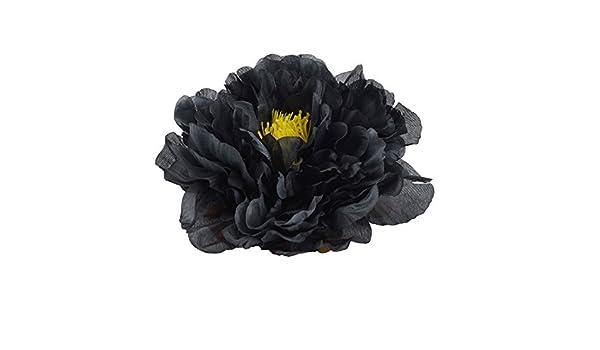 Amazon.com: eDealMax Sala de Estar Tela Artificial del Peony de la cabeza de Flor DIY Hecho a Mano Pétalo Decoración Negro: Home & Kitchen