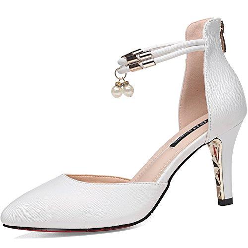 UK110 Talon Haut De Pour Chaussures Femme Plate Couleur SHOESHAOGE Forme EU35 Avec Sandales Fendue La Fine Étanche gawHaq