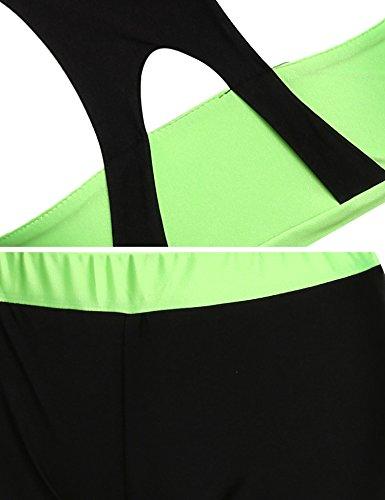 CRAVOG Sujetador Deportivo Tops Bra Deporte Chaleco de Fitness Para Yoga Gimnasio Playa Correr Verde