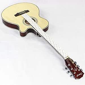 Guitarra acústica eléctrica de acero, cuerpo delgado, baladería ...