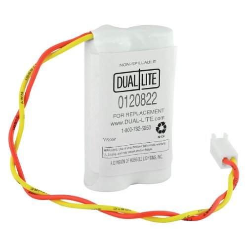 DUAL-LITE 0120822 Approved 4-volt 600mAh 2AA Type Cells N...