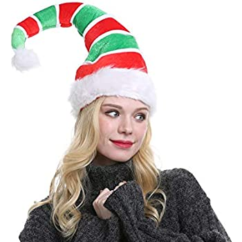 1546fa2375b5e Funny Christmas Long Elf Hat Adults Novelty Party Holiday Headwear Xmas  Ornament