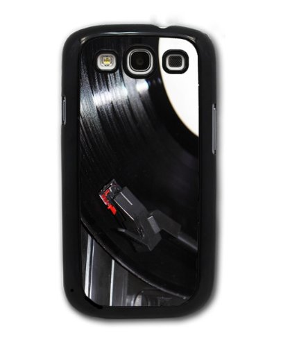 Vinyl Record and Turntable - Samsung Galaxy S3 Cover, Cell Phone Case - Black