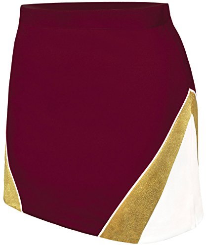 For Cheerleader Outfit Girls (Met Reflex Skirt Maroon/Gold Youth)