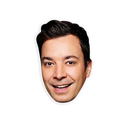 "Happy Jimmy Fallon Mask by RapMasks - 12"" x 9"" Waterproof (Celebrity Quality Costumes)"