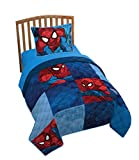 Jay Franco Marvel Spiderman Burst Twin/Full Quilt & Sham Set - Super Soft Kids Bedding Features Spiderman - Fade Resistant Polyester (Official Marvel Product)