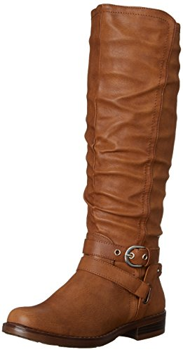 Tall Brown Boots (XOXO Women's Martin Riding Boot, Tan, 7.5 M US)