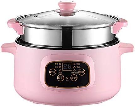Robot de arroz multifunción Slow Cooker con protección automática de apagado y arroz doméstico con olla caliente y cocción al vapor, 24 cm, color rosa: Amazon.es: Hogar