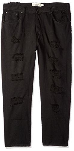 - Akademiks Men's Fashion Colored Denim Jeans, Black Onyx , 44/32