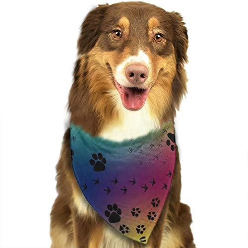 TLDRZD Dog Bandana Paw Prints Pattern Pet Scarf Triangle Bibs Kerchief Set Pet Costume Accessories Decoration for Small Medium Large Dogs Cats Pets]()